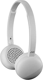 JVC Flats Wireless On Ear Headphones, Light Weight, 11 Hours Long Battery Life - HAS20BTH (Gray)