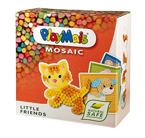 PlayMais Mosaic Little Friends Kit per Costruzioni da 3 Anni in sui 2300 Pezzi e 6 Modelli di Mosaico con Animali cariniI stimola creatività e abilità motorie I Giocattolo Naturale