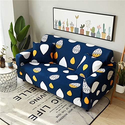 YQTYGB Couchhusse Spannbezug 1 Sitzer,Regentropfen im blauen StilSofabezüge 90-140cm,Sofabezug Stretch, Antirutsch Sofahusse Sofa Cover Elastische,Polyesterfaser Couch Uberzug.