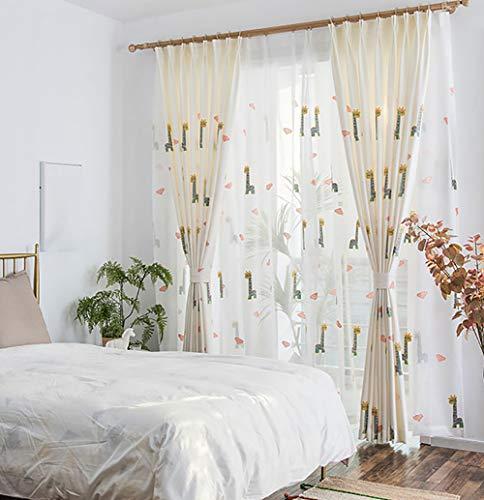 Tine Home gordijn, gordijn, gordijn, gordijn, voor ramen, katoen en linnen gordijn, voor ramen, luiken, dieren