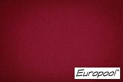 Europool Billardtuch, zugeschnittenes Komplettset Tischgröße 8 ft, Tuchfarbe Burgund