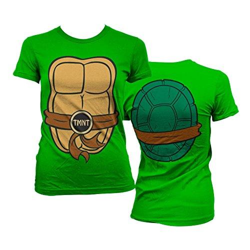 Teenage Mutant Ninja Turtles Offiziell Lizenzprodukt TMNT Costume Damen Tee (Grün), X-Large