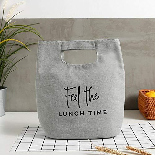 Bolsa de almuerzo de estilo japonés con aislamiento más grueso, bolsa impermeable con bolsas de arroz, gris B-