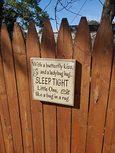 Ced454sy klaar om te verzenden met een vlinder kus en een lieveheersbeestje knuffel slaap strak kleintje als een bug in een tapijt 10x10 crème