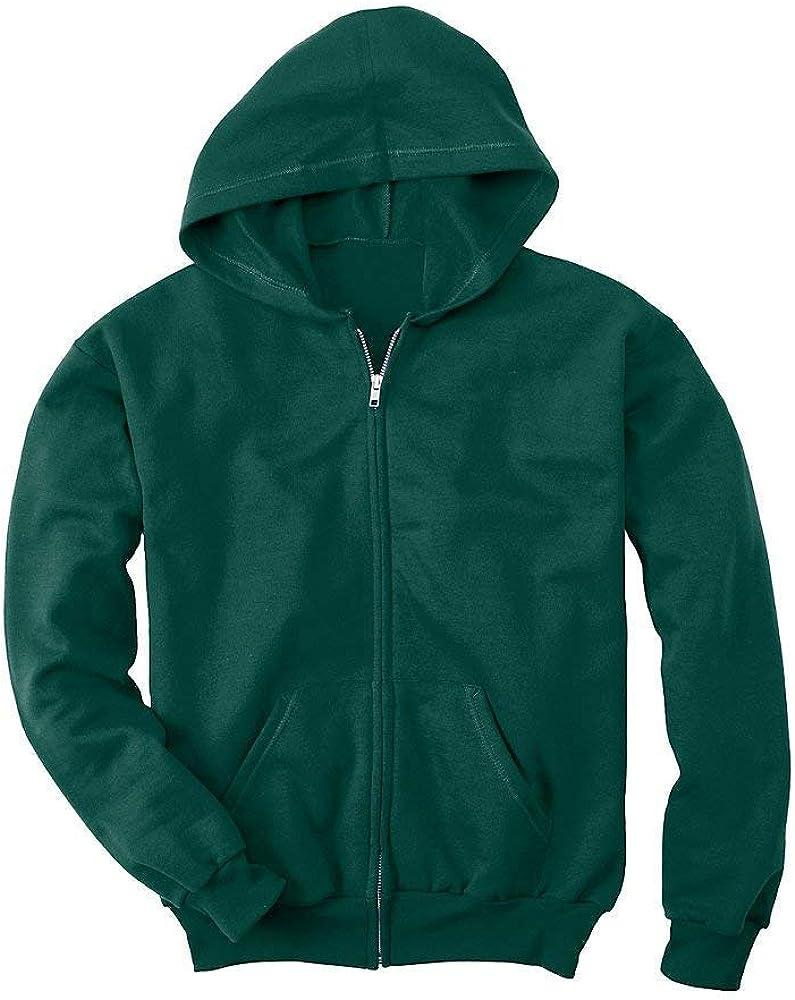 Hanes Youth Comfortblend EcoSmart Full-Zip Hood 7.8 Oz Sweatshirt, Deep Forest, M