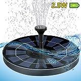 DIWUJI Solar-Brunnenpumpe, Vogelbad Springbrunnen für Gartenteiche, 2,5W Kreis Schwimmender Solarpanel, Wasser Solarbrunnen zum Garten Schwimmbad Teichpumpe (Aufgerüstet mit Eingebaut Batterie-Backup)