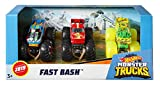 Hot Wheels Monster Trucks Pack de 3 coches Dueling Doubles, modelos surtidos 1 (Mattel GJY46)