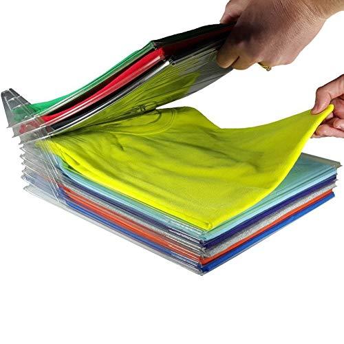 JIUTAI Paquete de 20 tablas plegables para armario, organizador de armario y carpetas de camisas, organizador de ropa, divisores de ropa, organizador de armario, carpeta antiarrugas, cajón de viaje