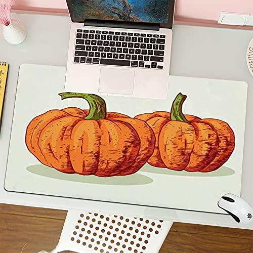 Gaming Keyboard Mouse Pad da Gioco Verdura di festa di ottobre dell alimento della zucca del primo piano disegnato a mano retro schizzo di schizzo adatta per computer desktop notebook