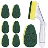 1 Dish Wands Cleaner and 7 Refill Replacement Heads,Durable Dish Wand Refill Sponge Pad for Kichen Cleaning