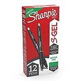 Sharpie S-Gel, Gel Pens, Medium Point (0.7mm), Green Gel Ink Pens, 12 Count