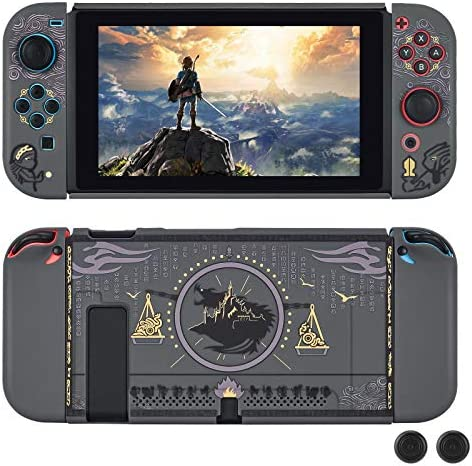 DLseego Dockable Protective Case Compatible with Nintendo Switch Newest Pattern Cover with Anti product image