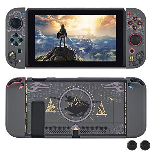 DLseego Coque Compatible avec Switch,Hard Étui de Protection Design Séparable avec Capuchons de Thumbstick, Anti-Rayures, Antichoc Housse de Protection pour Switch-Zelda
