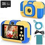 ASIUR Kinder Digitalkamera 1080P HD Video Wiederaufladbare Spielzeugkameras Kinder Camcorder für Mädchen und Jungen 3-8 Jahre alt Geburtstag Weihnachten Neujahr Geschenk (Blau)