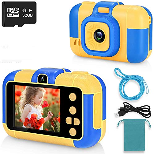 ASIUR Cámara Digital para niños 1080P HD Video Cámaras de Juguete Recargables Videocámaras para niños para niñas y niños de 3 a 8 años Cumpleaños Navidad Regalo de año Nuevo (Bleu)
