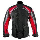 Roleff Chaqueta de Motorista Racewear Liverpool, Negro/Rojo, L