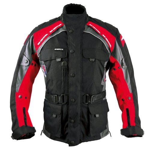 Roleff Racewear Liverpool Motorradjacke, Schwarz/Rot, Größe XXL
