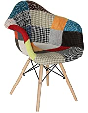 LANNY Modern Colorful Creative Cloth Chairs with Arm, Suitable for Living room, Dining room, Office Use