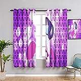 Elliot Dorothy Cortinas opacas para dormitorio My Little Pony Rarity juego de cortinas para ventana (72 x 63 cm)