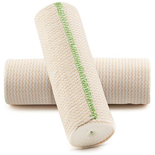 SPA SLENDER 6-inch x 15 ft Elastic Wrap - Compression Bandage - Hook and Loop Closure – Non-Latex Bandage Elastic Wrap for Spa Body Wraps - Injuries - Support – 2 pcs Washable Wide Elastic Bandage