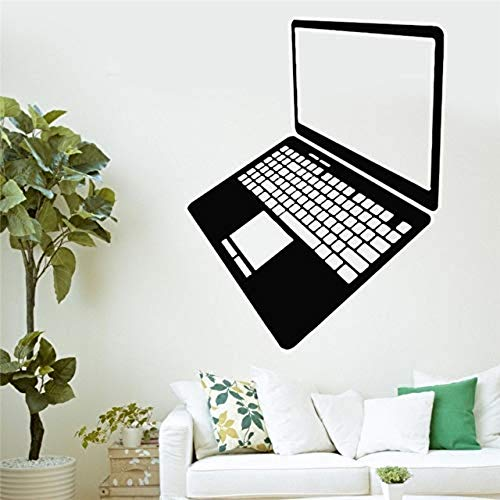 Muursticker, Laptop Vinyl Computer Gadget Internet Technologie muurschildering Art Decal Shop Office Kamer Home Decoratie [Grootte: 56x71 cm]