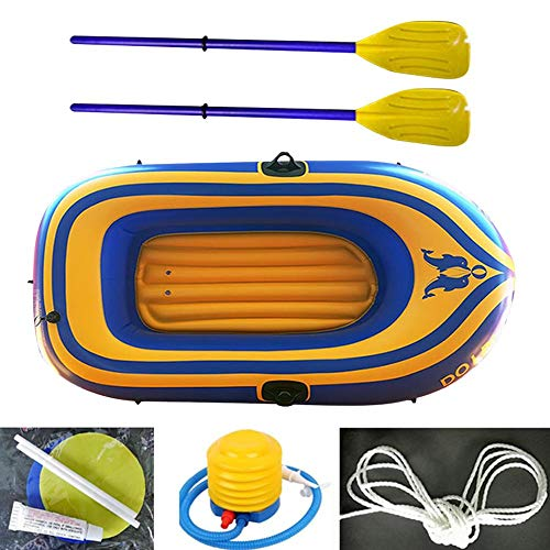 N/D Inflatable Kayak Boats for Adults and Kids with Oar and Air Pump, Fishing Touring Whitewater Kayaks, Rafting Rubber Boat PVC Thickened Double Boat