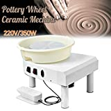 4YANG Ceramica elettrica , 25 cm 350 W. Macchina ceramica con pedale a velocità regolabile e aggiorna il bacino in ABS rimovibile Fai da te Clay con set di strumenti di modellatura (Certificato CE)