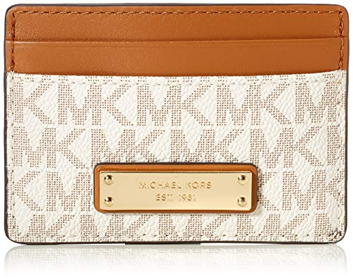 Michael Kors Damen Jet Set CARD HOLDER, Vanilla, S