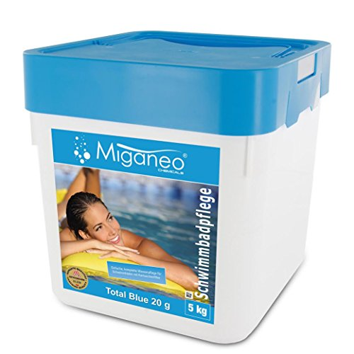 Miganeo® 5kg Total Blue Tabs 20g 5in1 Multitabs chlor für Pool Schwimmbad Chlortabs Ph Minus Alegezid (5 kg)