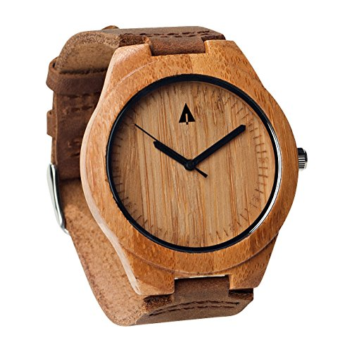 Treehut Mens Wooden Bamboo Watch with...