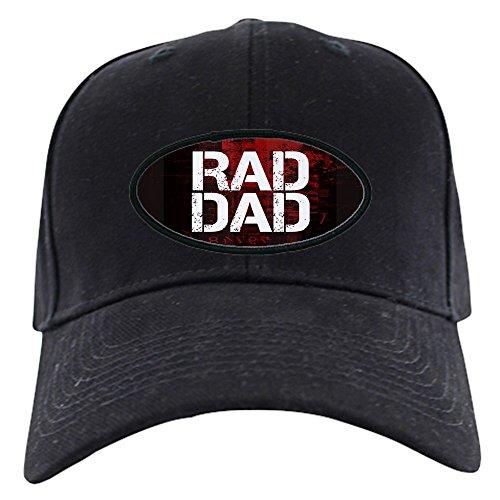 CafePress - Rad Dad Black Cap - Baseball Hat, Novelty Black Cap