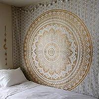 タペストリー壁掛けマクラメ壁布タペストリーサイケデリックナイトスカイムーンタペストリー壁カーペット
