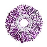 Bbye Neue Alternative 360 Rotierender Mikrofaser-Bodenmoppkopf Lila weißRunder Durchmesser 16cm
