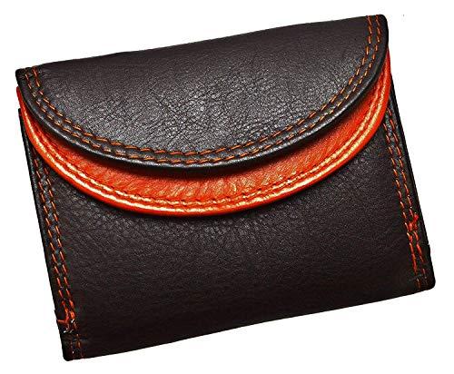 flevado Kleine handliche Party Disco Geldbörse in Mehreren Farben Lifestyle (schwarz-rot)