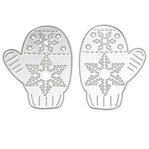 Demiawaking 2 stücke Handschuhe Schnee Schneiden Stencil Scrapbooking Handwerk Album Papier Karte