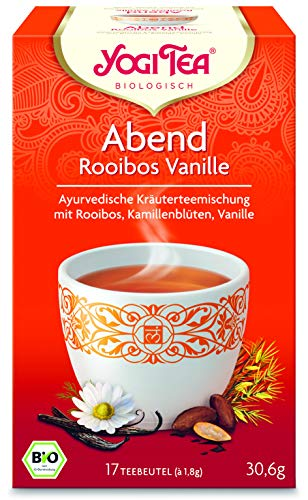 Yogi Tee Abend Tee mit Rooibos und Vanille - 17 Tee Beutel - Yogi Tea -
