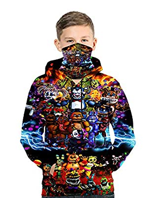 Youth Five Nights at Freddy's Hoodie Pullover Sweatshirts for Boys Girls M