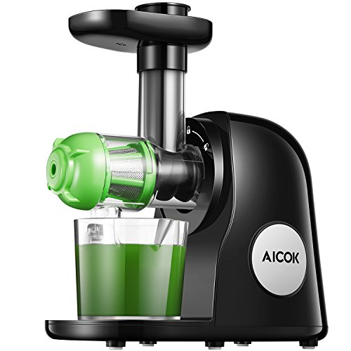 Slow Juicer Masticating Juicer Machine, Aicok Juicers Whole Fruit and...