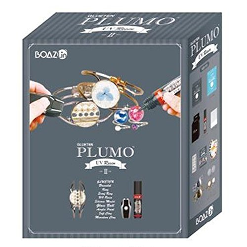 Plumo glueten UV resina Art Nail Art Set II accesorios Kit para hacer, Run pollo