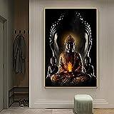 zachking Abstrakte Gold Buddha Wandkunst Leinwand Gemälde