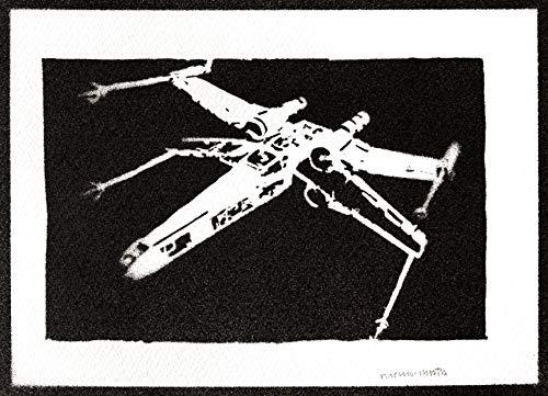 Poster Caza Estelar X-Wing STAR WARS Grafiti Hecho a Mano - Handmade Street Art - Artwork