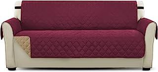 comprar comparacion PETCUTE Cubre sofá Fundas de Sofa 3 plazas Protector de sofá o sillón, Dos o Tres plazas Vino Rojo