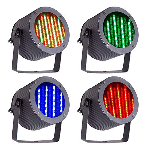 AOIWE Pattern Stage Light, DMX Controlled LED Stage Lights, 86 RGB Sound Activated Par Stage Effect Lighting for DJ Party/Disco/Wedding/Club/Pub/Event/Bar (Size : 4 PACK)