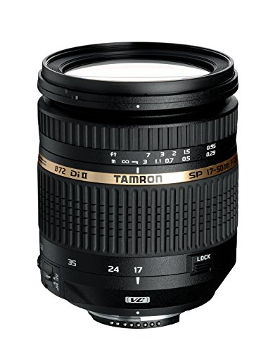 Tamron SP 17-50mm F/2.8 XR Di-II VC LD Aspherical for Nikon APS-C Digital SLR Cameras (6 Year Tamron Limited USA Warranty)
