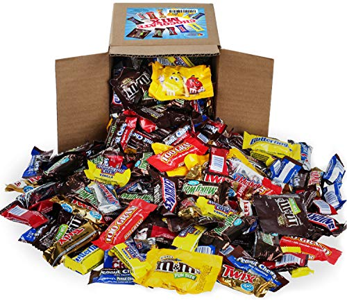 Chocolate Variety Pack - Chocolate Candy Bulk - All Your Favorite Chocolate Bars Including M&M, Snickers, Twix and More In 6x6x6 Bulk Box, 3.2 LB