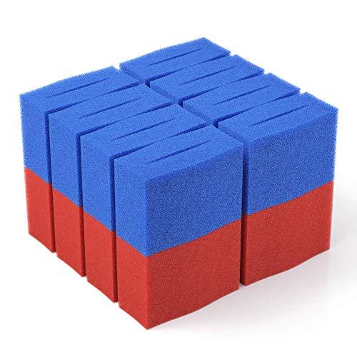 16x Ersatz Filter Schwamm passend für Oase BioTec 18 + Screenmatic | Set 8X Blau 8X Rot - Koi Teich Ersatzschwämme | Ersatzteile Durchlauffilter Wasserklärer