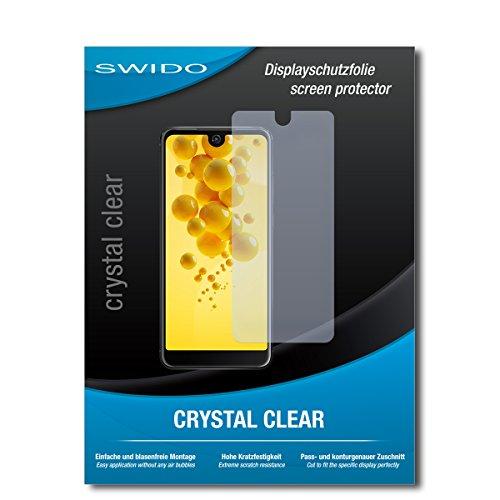 SWIDO Schutzfolie für Wiko View 2 [2 Stück] Kristall-Klar, Hoher Festigkeitgrad, Schutz vor Öl, Staub & Kratzer/Glasfolie, Bildschirmschutz, Bildschirmschutzfolie, Panzerglas-Folie