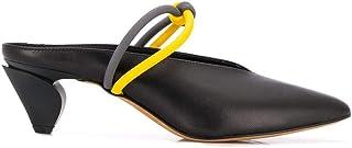 GRAY MATTERS Women's NEOM1BLACK Black Leather Heels