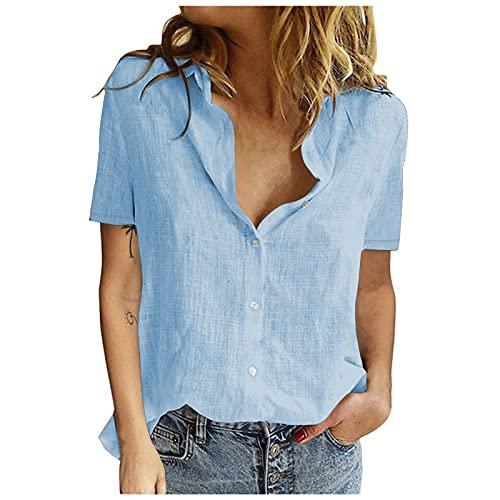 camicia donna xxxl XOXSION Maglietta estiva da donna