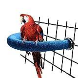 Soporte flexible para loro para mascotas tipo U, soporte para escarchar libro, barra para libro, jaula de pájaros, juguete de pie con esquina curva